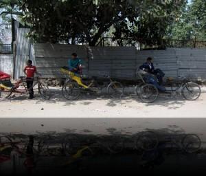 A Pedicab Waiting Line