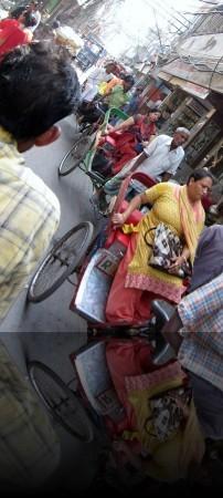Traffic Jam of Pedicabs