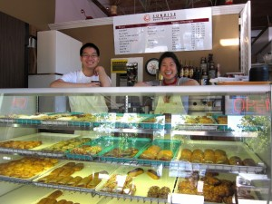 Kelly and Wesely - proud owners of Sunrise Donut Espresso