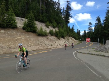 Tim followed by Eddie and Victor into Cascade Peaks